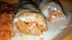 Chimichangas from El Jalapeno Mexican Restaurant in Youngstown, Ohio