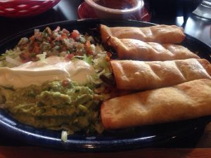 Yummy Flautas from El JAlapeno Mexican Restaurant in Youngstown, Ohio